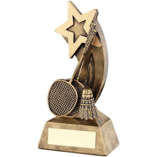 Badminton Trophy Bronze & Gold