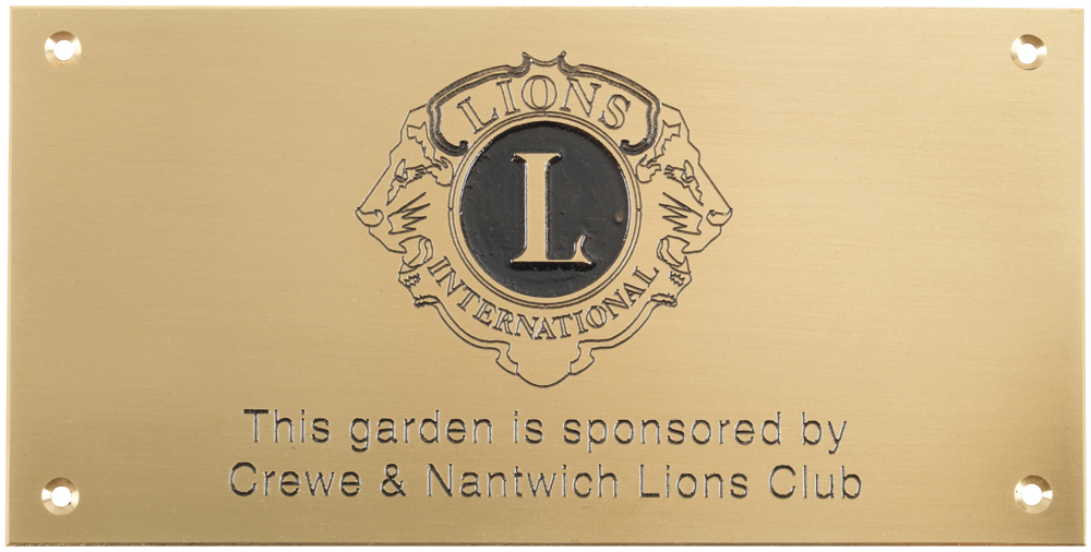 Engraved Metal Wall Plaque