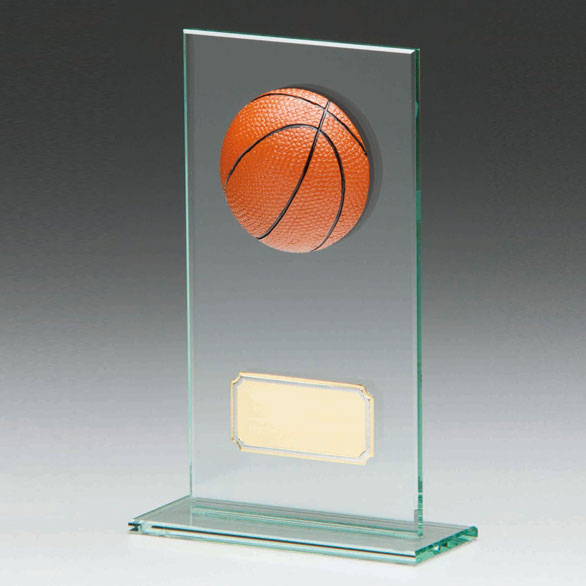 Jade Glass Basketball Trophy