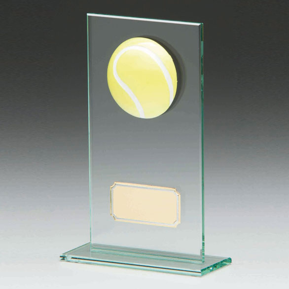 Jade Glass Tennis Trophy