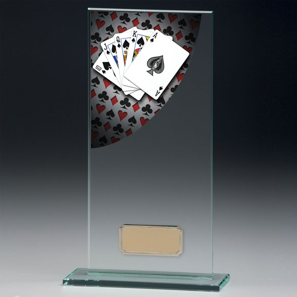 Jade Glass Cards Trophy