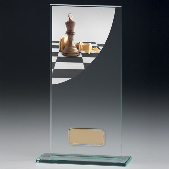 Jade Glass Chess Trophy