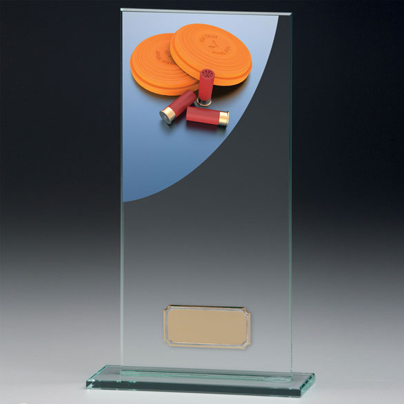 Jade Glass Clay Pigeon Trophy