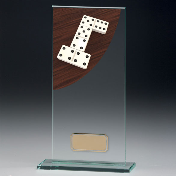 Jade Glass Dominoes Trophy