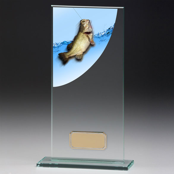 Jade Glass Fishing Trophy