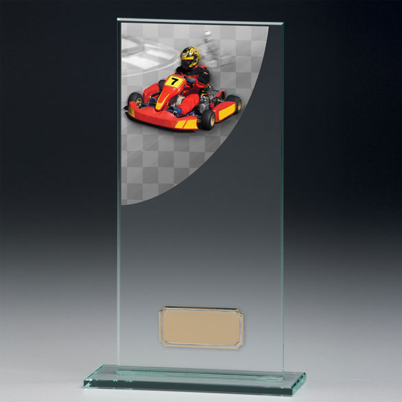 Jade Glass Go-Karting Trophy