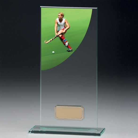 Jade Glass Hockey Trophy