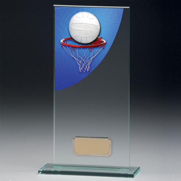 Jade Glass Netball Trophy