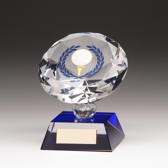 Diamond Golf Trophy Blue