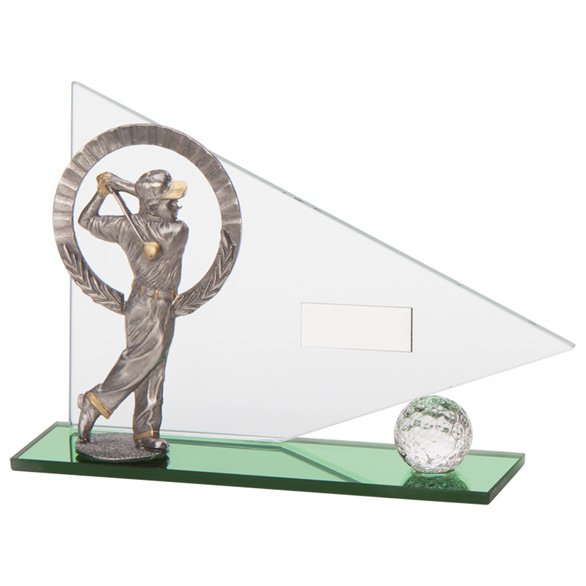 Crystal Flag Golf Trophy