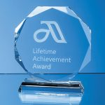 Facetted Octagon Corporate Award