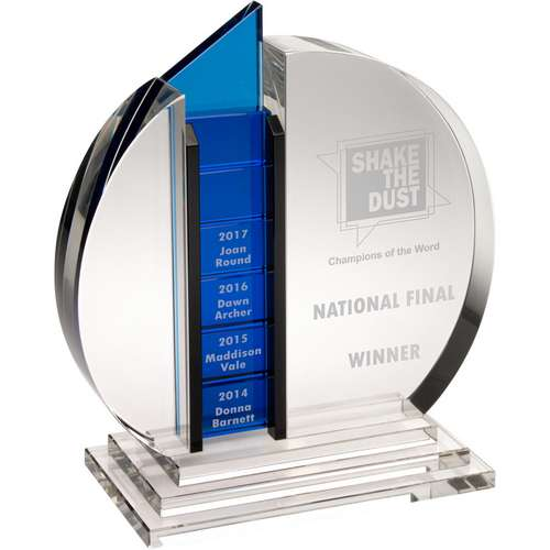 Engraved Crystal Corporate Award Annual-Monthly