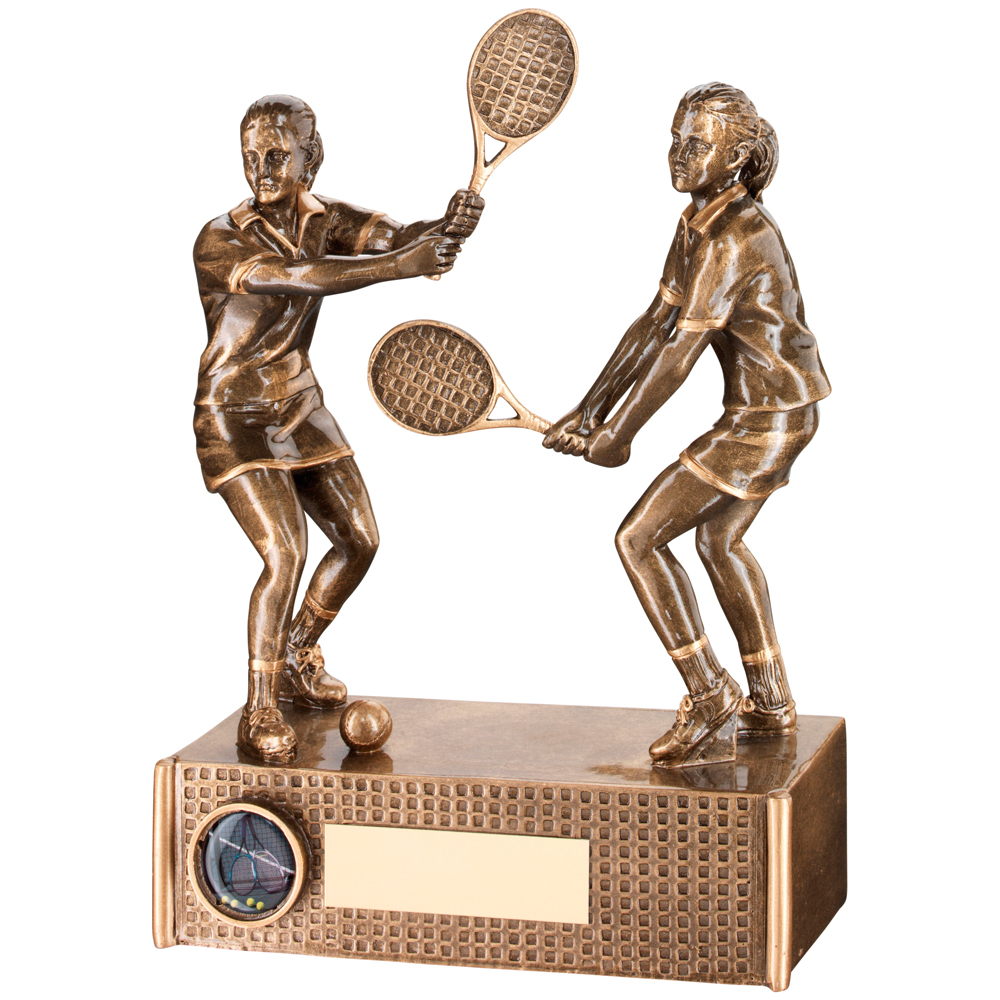 Male Tennis Award Resin