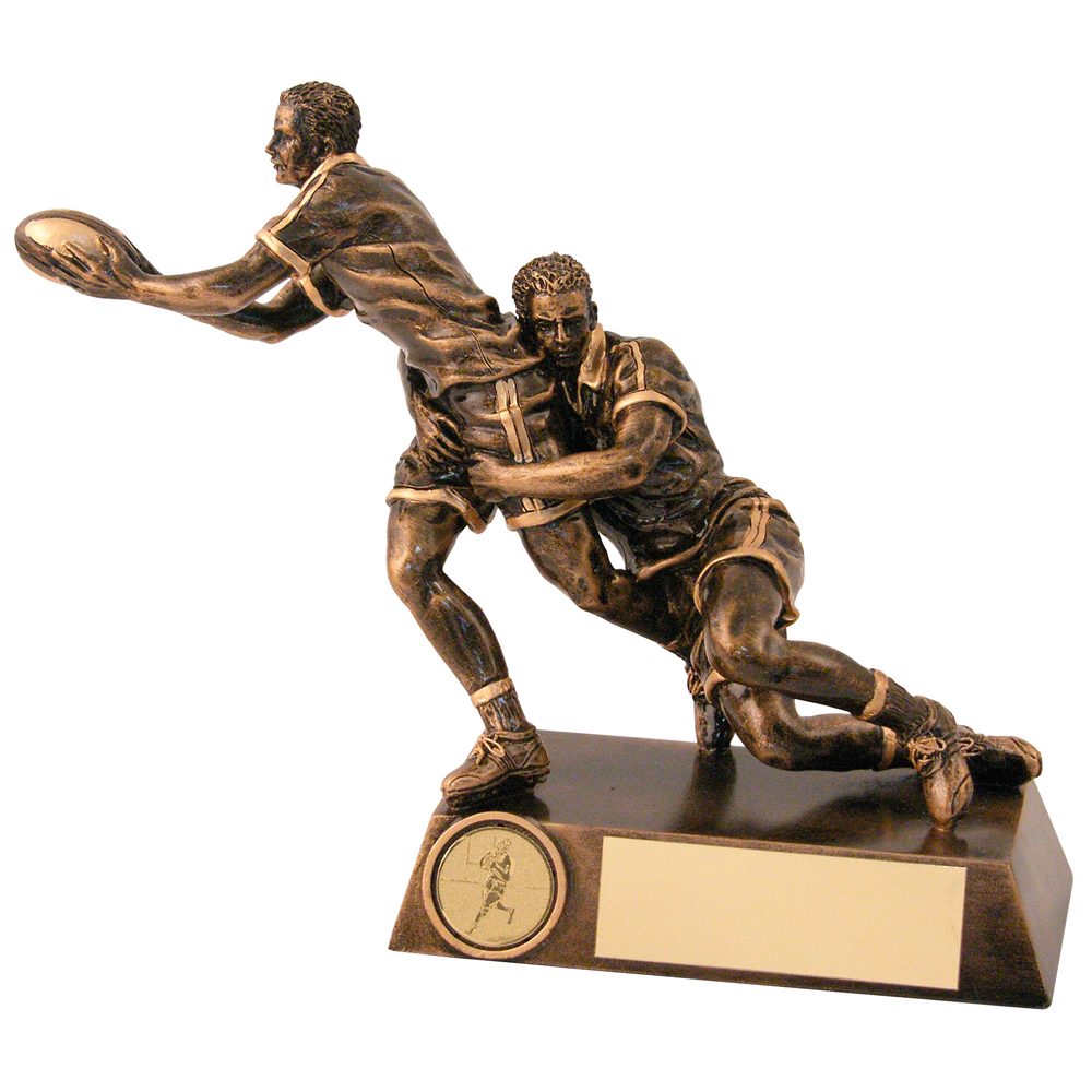 Rugby Trophy Tackle Figures