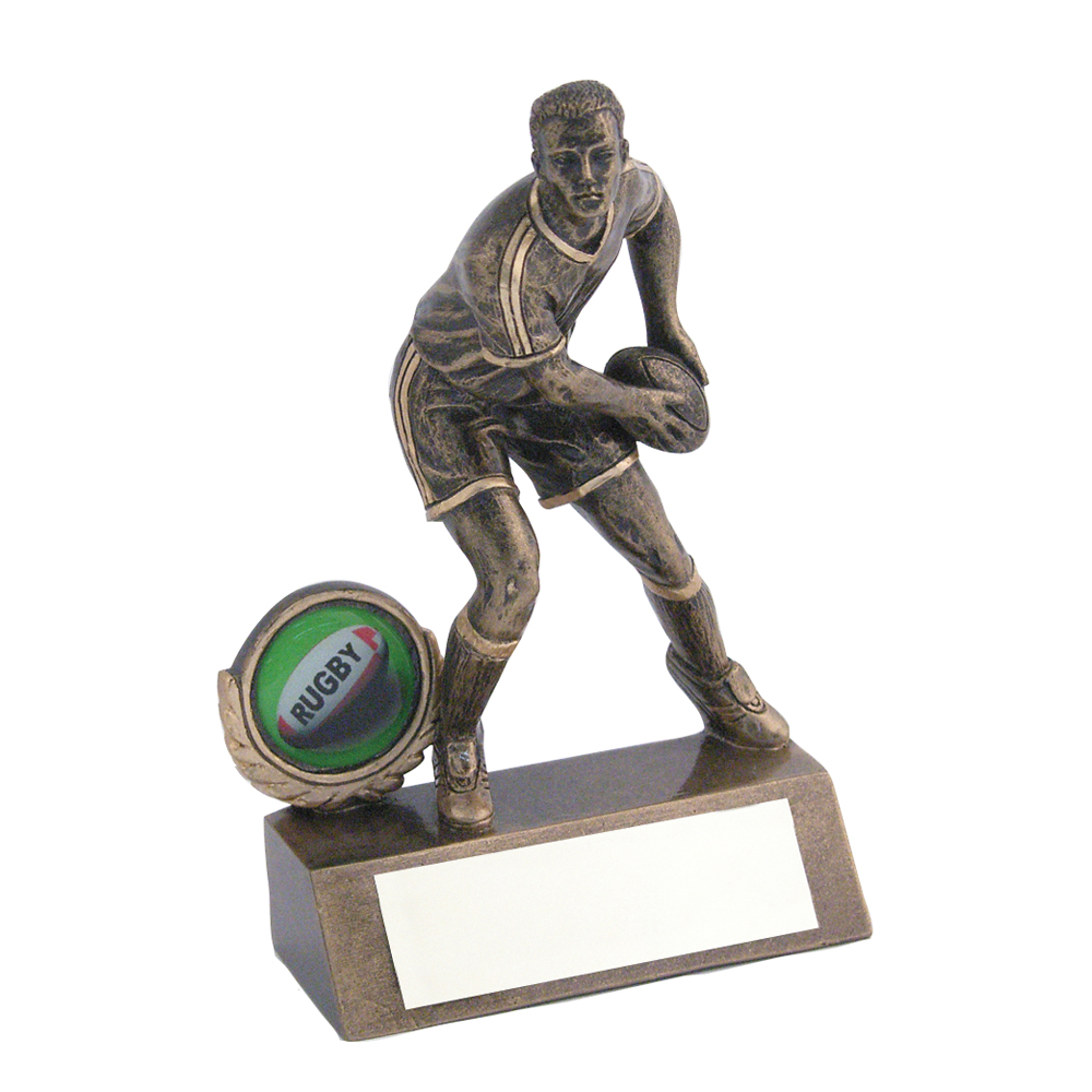 Rugby Pass Figure Trophy