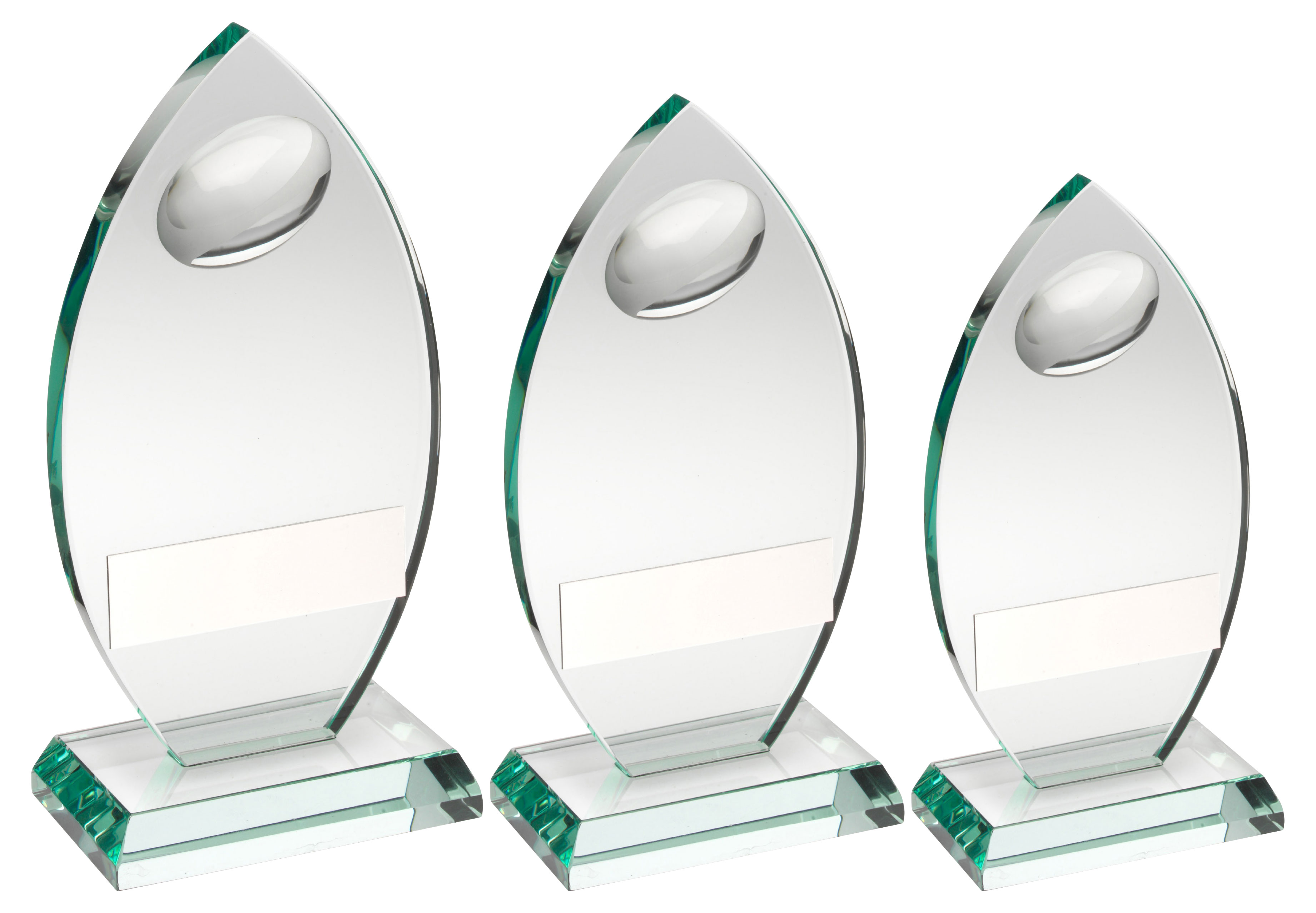 Clear Glass Rugby Trophy