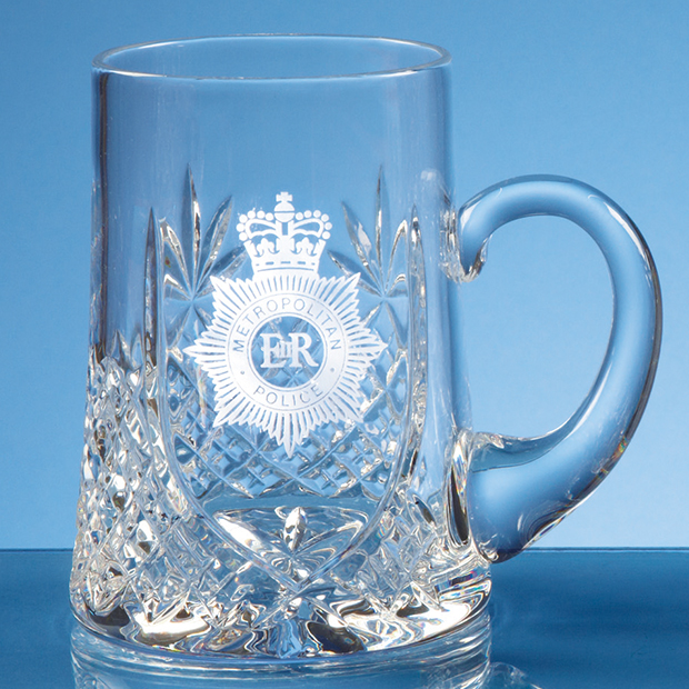 0.3ltr Lead Crystal Panel Tankard