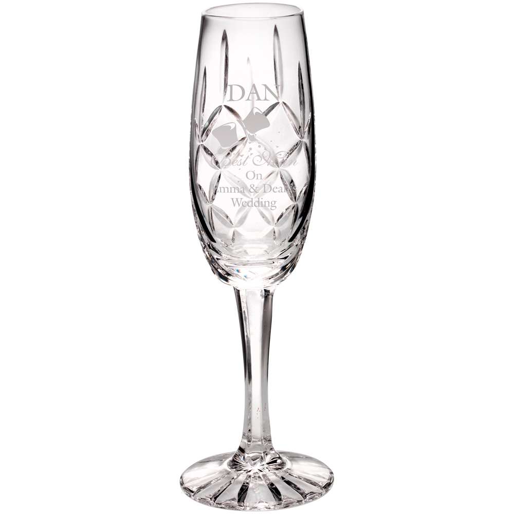 Crystal Engraved Champagne Flute