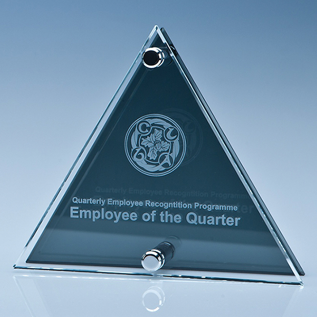 Clear and Smoked Glass Plaque