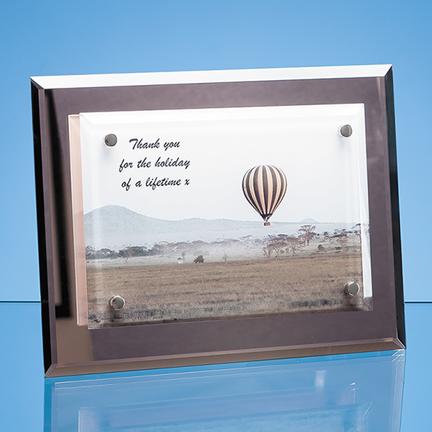 Glass Rectangle Desk Plaque