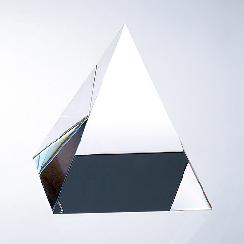 Personalised Engraved Glass Triangle Crystal Paperweight
