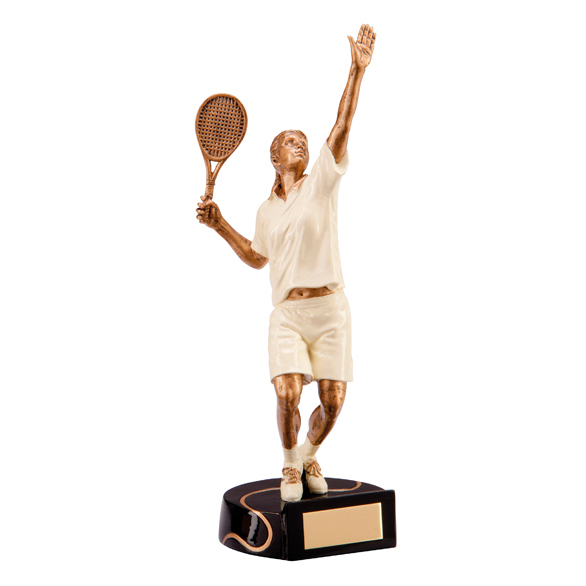 Female Tennis Trophy Resin