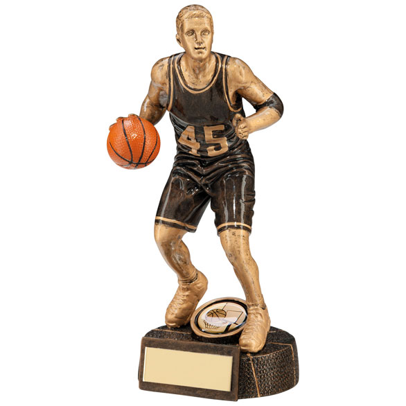 Basketball Trophy Male Figure
