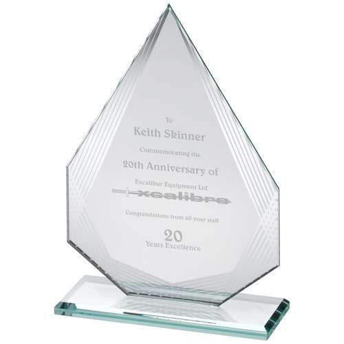 Glass Corporate Award Rectangle Diamond
