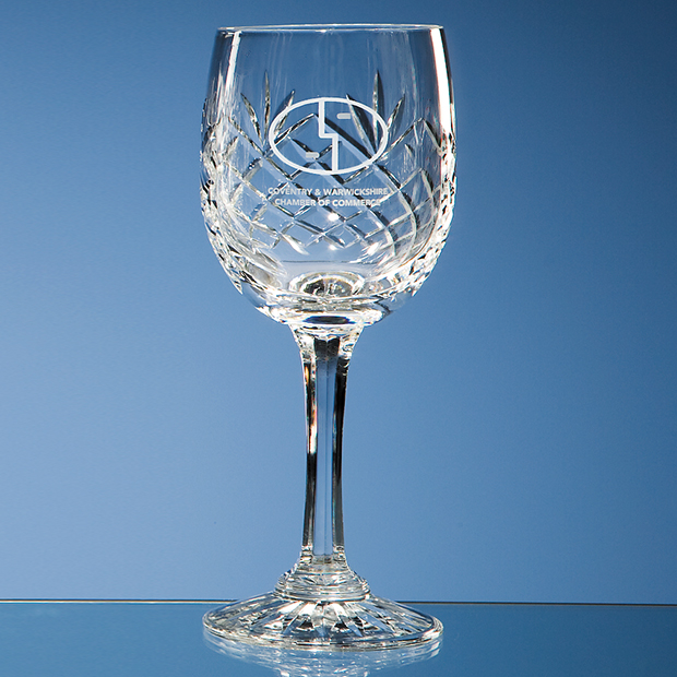Durham Engraved Wine Glass