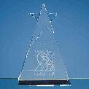 Optical Crystal Star Triangle Award