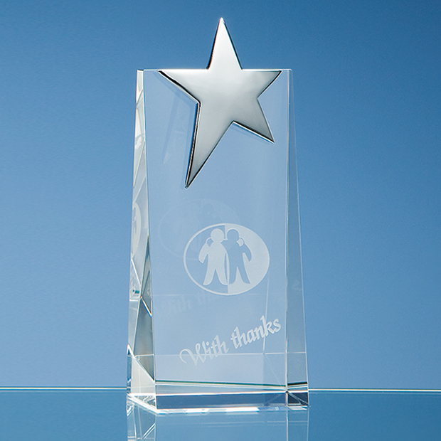Rectangle with Silver Star Award