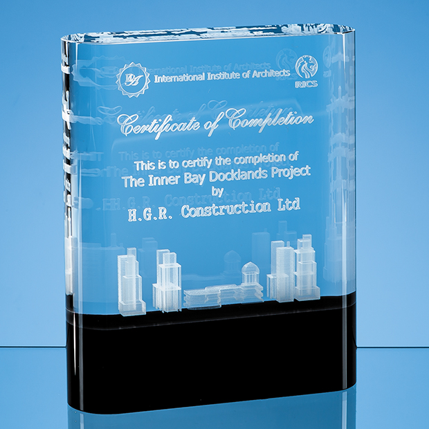 Laser Engraved Awards Onyx Black