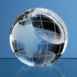 Crystal Globe Paperweight Award
