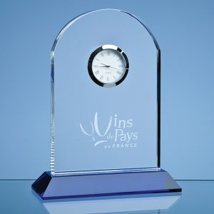 Optical Crystal Mounted Arch Clock
