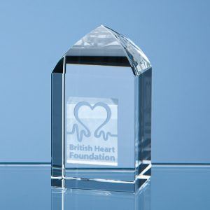 Optical Crystal Mini Tower Award
