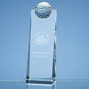 Golf Ball Rectangle Trophy