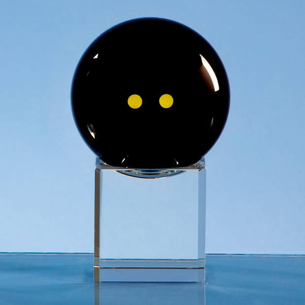 Onyx Black Optic Squash Ball on Clear Base Large