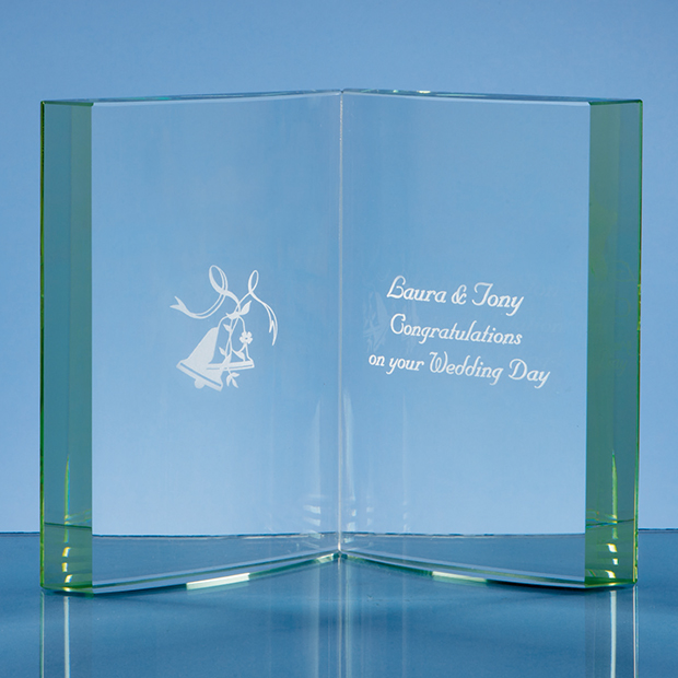 Open Page Glass Book Corporate Award