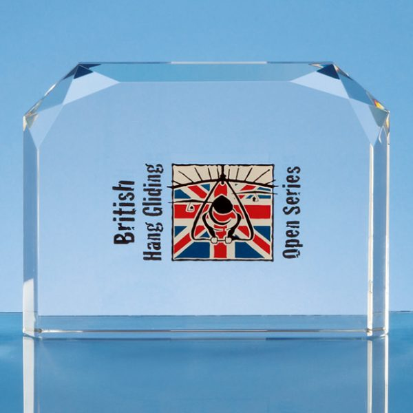 Horizontal Facet Rectangle Corporate Award