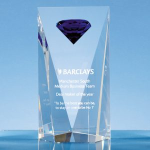 Mounted Blue Diamond Corporate Award