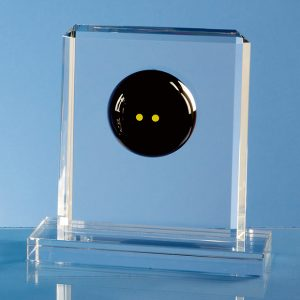 Optical Crystal Squash Rectangle Award Small