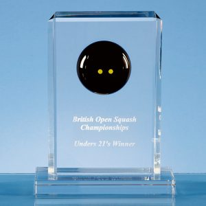 Optical Crystal Squash Rectangle Award Medium