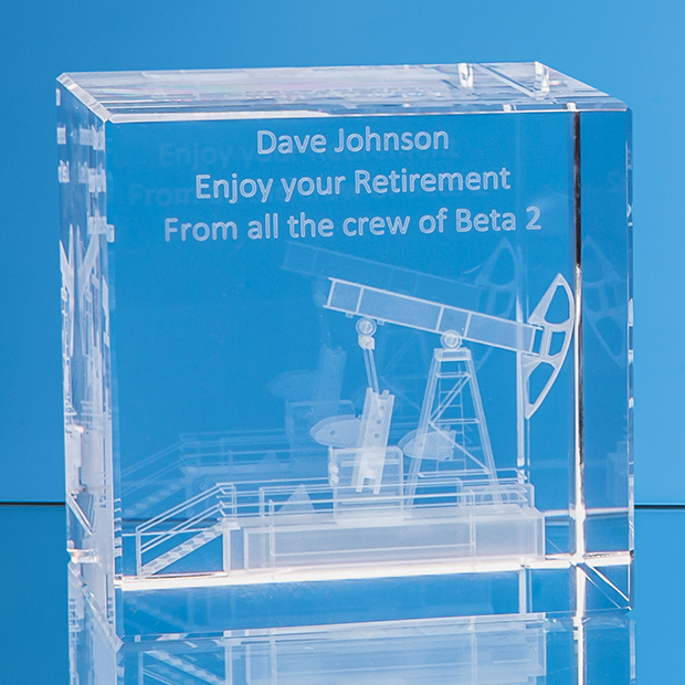 Laser Engraved Cube Awards