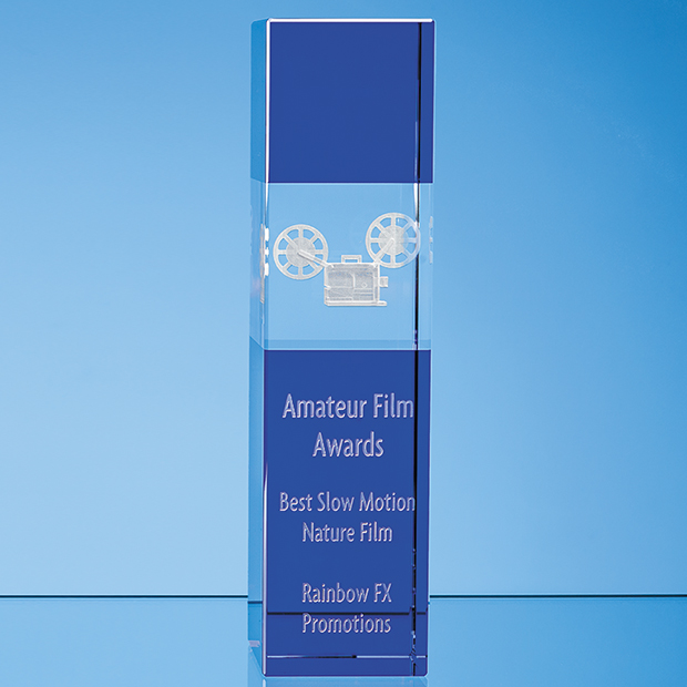 Laser Engraved Awards Cobalt Blue