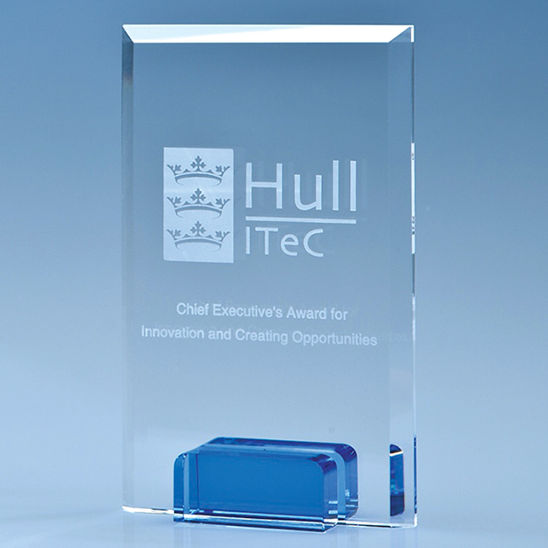 Rectangle Sapphire Blue Base Award