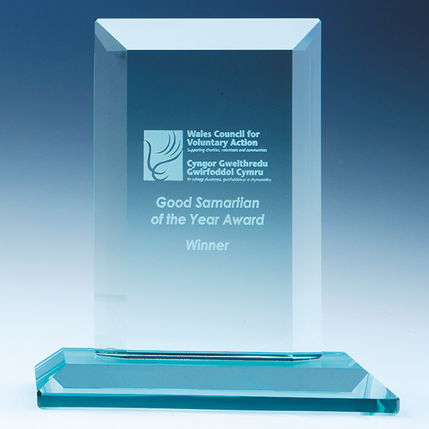 Jade Glass Octagon Corporate Award