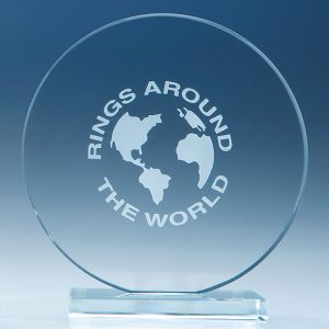 Clear Glass Circle Corporate Award